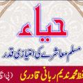 حیاء مسلم معاشرے کی امتیازی قدر|مفتی حافظ محمد ندیم ربانی قادری ( پی ایچ ڈی اسکالر 13