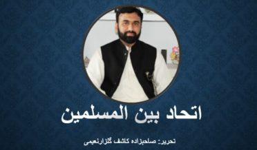 اتحاد بین المسلمین تحریر: صاحبزادہ کاشف گلزارنعیمی 6