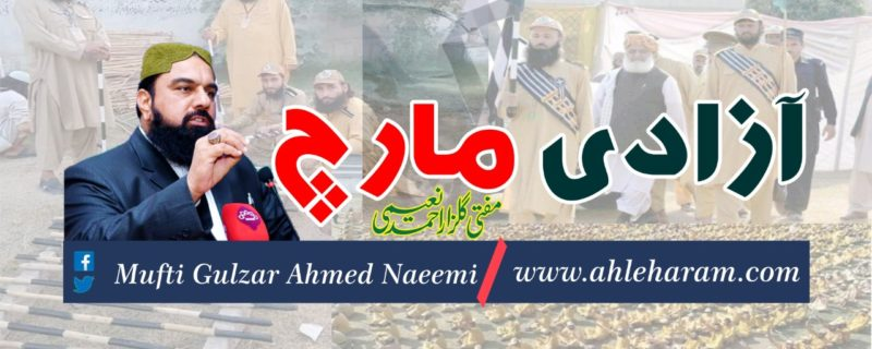 mufti gulzar ahmed Naeei article azadi march