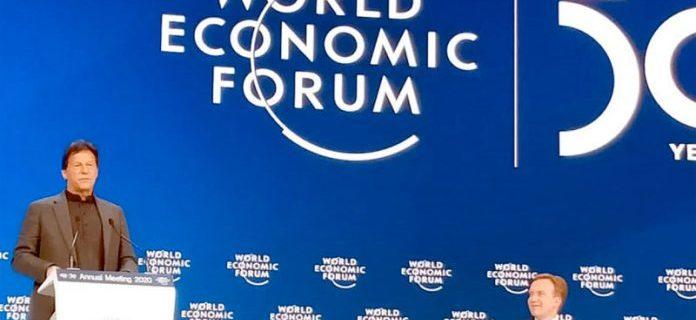 ڈیووس: وزیراعظم عمران خان عالمی اقتصادی فورم کے خصوصی سیشن سے خطاب کررہے ہیں