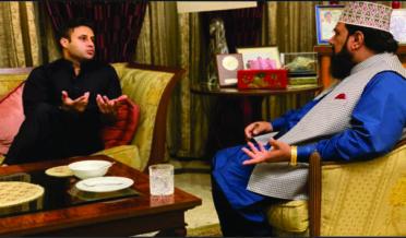 Mufti gulzar Ahmed Naeemi with Zulfi Bukhari