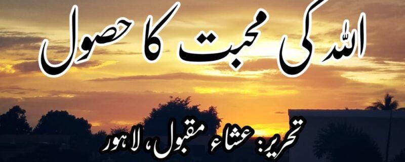 اللہ کی محبت کا حصول