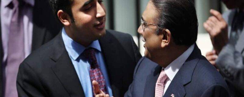 Asif ali Zardari and Bilawal bhutto
