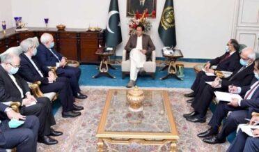 وزیراعظم سے ایرانی وزیر خارجہ کی ملاقات؛کشمیر پر مستقل حمایت کااعادہ